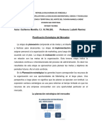Planificacion Estrategica de Mercadeo. Guillermo Mantilla C.I 18.796.283