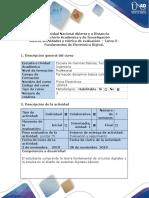 Guía de Actividades y Rúbrica de Evaluación – Tarea 3 - Fundamentos de Electrónica Digital