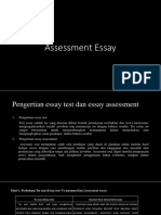 Assessment Essay