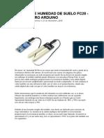 Sensor de Humedad de Suelo Fc28