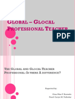 The Global and Glocal Teacher Professional