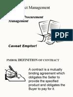 PMchap12a-Contract & Procurement