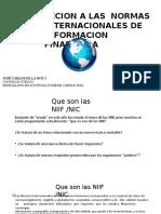 presentación de las NIFF