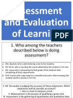 Assessmentand Evaluating of Learning