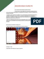PASOS PARA LA REPARACION DE UN DISCO DURO DE PC