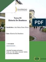 Historia de Honduras Tarea 4