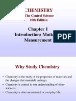 Chapter 1 Matter Classification Measurement