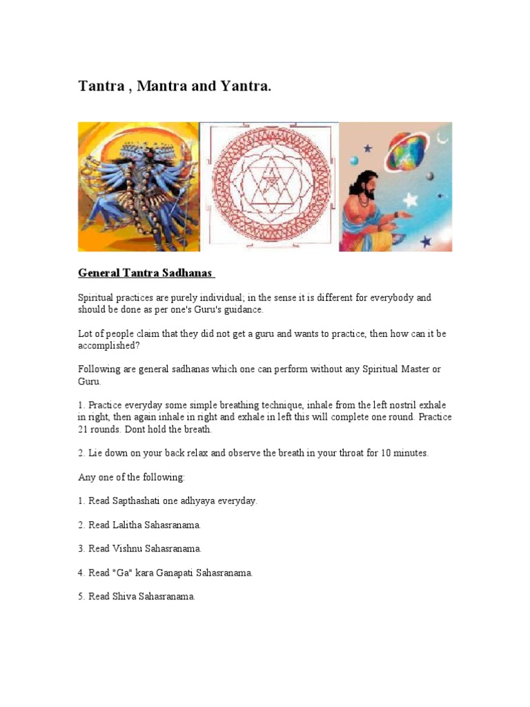 Tantra Mantra Yantra | Kali | Vajrayana