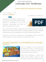 Materiais de Construção Civil_ Tendências Para 2017