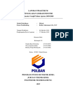 Laporan Praktikum Pengolahan Limbah Industri -  Filtrasi