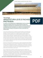 Tecnologia_ Fachadas Microclimáticas, Leveza e Conforto - ARCOweb