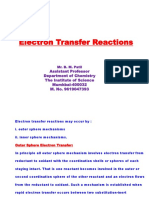 Electron transfer redox reactions