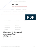 Six Easy Steps to Get Started Learning Artificial Intelligence