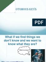 Dichotomous Key Notes