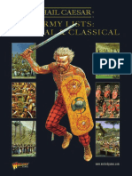 Hail Caesar Army Lists - Biblical and Classical