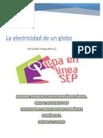 Actividad integradora 3. La electricidad de un globo