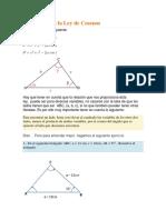 Fórmula Para La Ley de Cosenos