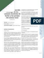 Derecho a La Porción Conyugal de Las Uniones Maritales de Hecho y Las Parejas Del Mismo Sexo