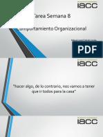 IACC Comportamiento Organizacional Tarea Semana 8