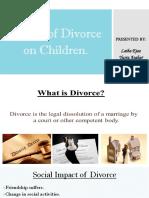 Affects of Divorce on Children 1[2413]