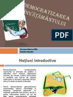 Democratizarea învățământului