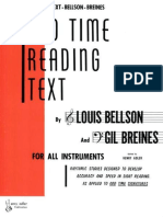 Odd Time Reading Text- For All Instruments - Rhythmic Studies Designed to Develop Accuracy and Speed in Sight Reading as Applied to Odd Time Signatures by Louis Bellson