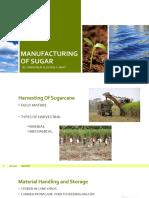 Manufacturing of Sugar