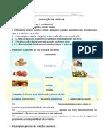 avaliação de ciências sobre Alimentação.doc
