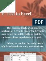 f Test Excel