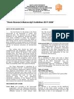Manuscript Guidelines (SLU)