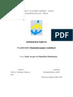 Pazarot Na Pari Vo Republika Makedonija (Seminarska Rabota)