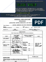 Apollo 11 Immigration and Customs Declaration Form