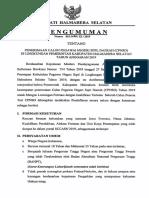 Pengumuman Persyaratan Dan Formasi PNS HalSel