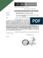 oficio N° 09-2019- solicita Copia Certificada de Denuncia Ilave