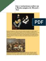 Introducción y variaciones sobre un tema de La flauta mágica de Mozart