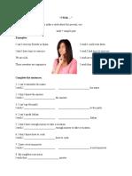 Int 1 Wish-worksheet