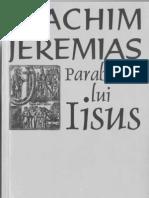 Joachim Jeremias - Parabolele Lui Isus