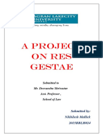 A PROJECT ON RES GESTAE.docx