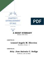 Law on Sales (Summary)