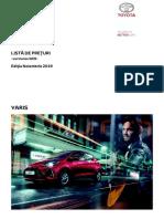 PRETURI Toyota YARIS Web Noiembrie 2019 Tcm-3040-1739636