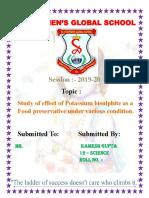 Chemistry Investigatory Project Main