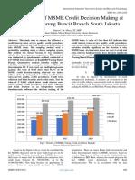 The Analysis of MSME Credit Decision Making at BRI Bank Warung Buncit Branch South Jakarta