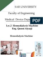 Lec2. Hemodialysis Machine