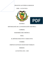 Metodo Inductivo y Deductivo Mapa Metodologia