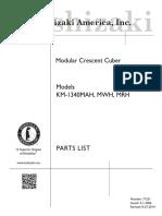 Partes y Lista HOSHIZAKI KM-1340M_H_pts