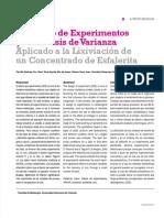 Diseño de experimentos aplicado a la lixiviación de esfalerita