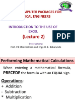 CHE317 Excel Lect2