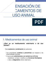 Dispensación de Medicamentos de Uso Animal