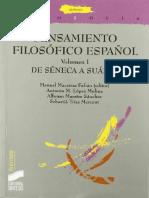 Pensamiento filosofico español I - De Séneca a Suárez.pdf