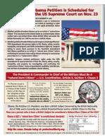 Kerchner v Obama Petition Scheduled for Conference at Supreme Court on Tues Nov 23 2010 - WTNW pg 5